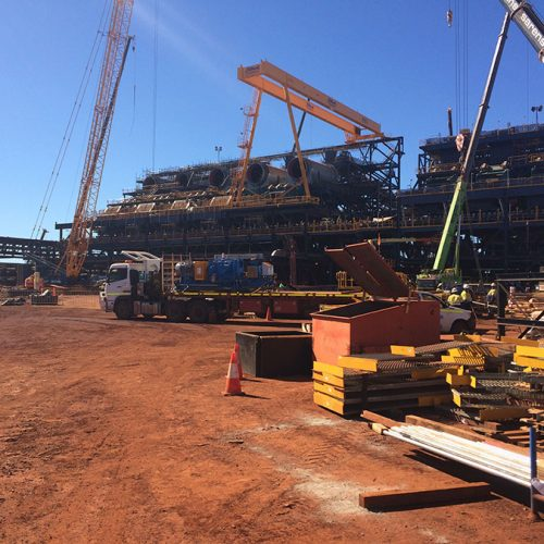 Assembly and Installation of Five Iron Ore Wet Scrubbers